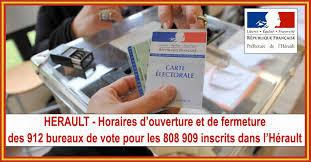 horaires bureaux de vote officiels herault horaires d ouverture et de fermeture des 912