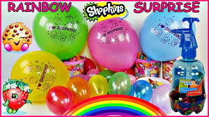 learn colors making shopkins rainbow surprise balloons diy crafts