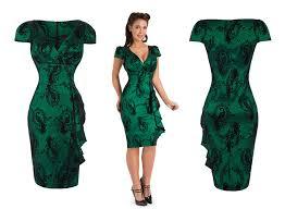 voodoo vixen womens ladies new green vintage peacock flocked