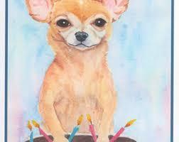 chihuahua card etsy