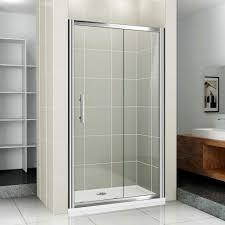 Bathroom Doors Bathroom Interior Two Sliding Glass Door With Silver Steel Frame