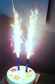 sparkler candles for cakes candles blue 2 per pack co uk office products