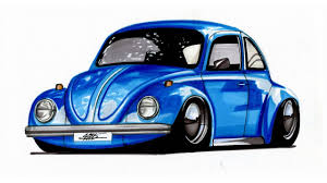 volkswagen bug drawing realistic car drawing volkswagen beetle time lapse youtube