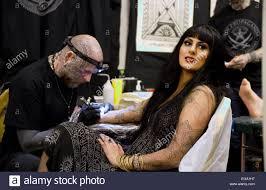 brighton uk 20th february 2015 tattoo artist matt black at