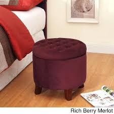 ottoman round leather ottoman coffee table round red leather