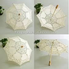 parapluie mariage parapluie blanc parasol dentelle ombrelle de mariée en coton