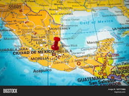 Map Mexico City by Thumbtack In A Map Pushpin Pointing At Mexico City Stock Photo