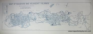 map of naushon and adjacent islands antique maps and charts