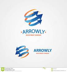 vector logo design element arrow scope circle stock vector