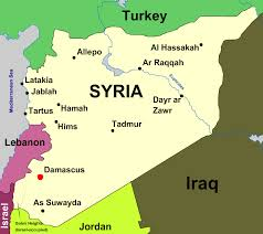 syria on map map flag and seal of syria