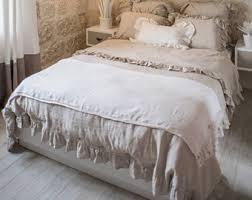 washed linen bedding etsy