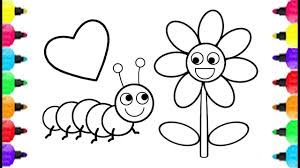 simple caterpillar coloring pages how to draw simple caterpillar