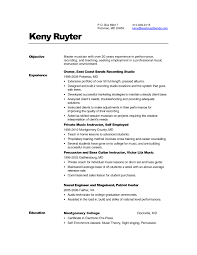 classy musical theatre resume samples for your singer resume