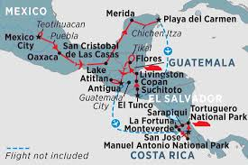 Map De Central America by Central America Uncovered Mexico Tours Peregrine Adventures Nz