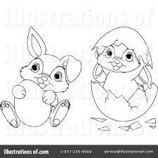 easter bunny clipart 1097498 illustration by pushkin