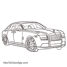 how to draw a rolls royce step by step u2013 a photo lesson for everybody