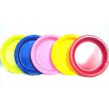 assorted 9 dinner plastic plates
