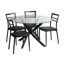 table ronde en verre avec chaises achat vente pas cher
