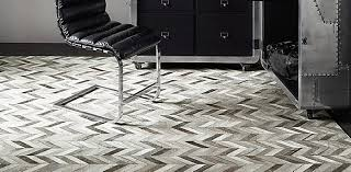 chevron cowhide rug collection rh