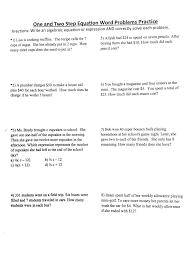 worksheet multi step equations word problems solving one step equations word problems powerpoint tessshlo worksheet with