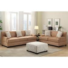ottoman and matching pillows narvik 2 piece microsuede living room set with matching ottoman and
