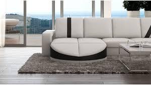 canapé d angle imitation cuir canapé design panoramique d angle en cuir utena gdegdesign