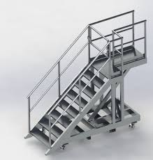 Platform Stairs Design Movable Aluminium Platform And Stairway Design U2022 Dynamic