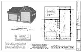 24 x 24 garage plans 18 x 45 14 24 x 28 5 10 garage cabin plans