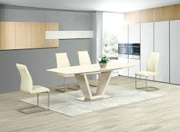 Black Gloss Dining Table And 6 Chairs Glass Extending Dining Table Extendable Toronto Habitat Black