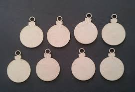 chipboard ornaments solid 8 pieces