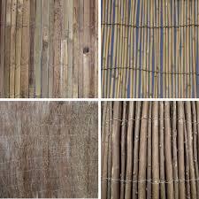 garden divider screening border bamboo slat willow reed brushwood