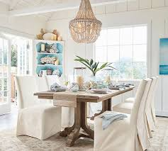 How To Decorate A Chandelier With Beads Francesca Beaded Chandelier Pottery Barn