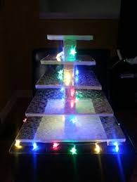 cupcake stand with led lights cupcake stands for weddings glowing cupcake stands that are