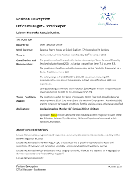 Sample Resumes For Office Manager by Bookkeeper Office Manager
