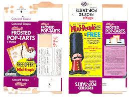 Toaster Box Vintage 1969 1960 U0027s Kellogg U0027s Concord Grape Pop Tarts Box Mini