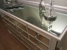 Mirror Dressers Mirrored Dresser White Elegant 9 Drawer Shabby Chic Mirror