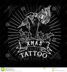 skull tattoo images free vintage christmas skull tattoo stock vector image 60945696