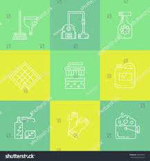 cleaning household supplies icons modern clean stock vector