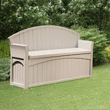83 Gallon Deck Box by Suncast 189 Litre Plastic Storage Bench Plastic Storage And Gardens