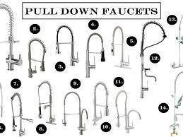 kitchen exciting pull down faucet for your kitchen decor ideas