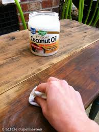 how to use coconut oil to refinish wood rehydrates the wood and