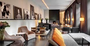 bulgari hotel milano in the passageways white and black colours of