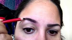 how to do your eyebrows using an eyeliner eyebrow pencil youtube