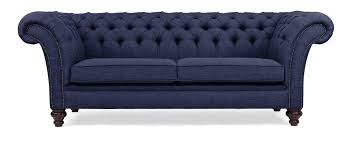 Handmade Chesterfield Sofas Uk Blue Linen Chesterfield Sofa Handmade In The Uk