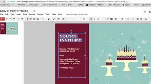 create invitations how to create a party invitation in documents