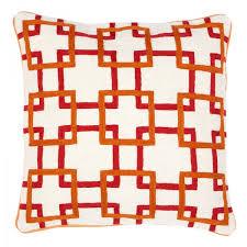 coussins orange coussins bradbury orange de eichholtz
