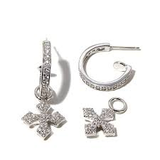 small baby earrings king baby jewelry 2ctw cz small sterling silver hoop earrings with