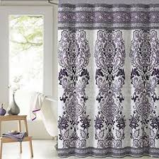mariah plum purple paisley cotton fabric shower curtain victoria