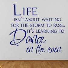 life inspirational wall stickers iconwallstickers co uk waiting for the storm to pass life and inspirational quote wall stickers decals
