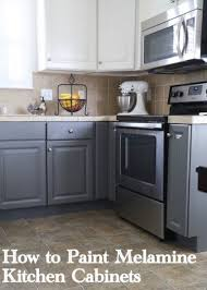 painting mdf kitchen cabinets painting melamine kitchen cabinets the decorologist
